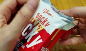 opening the Pocky
