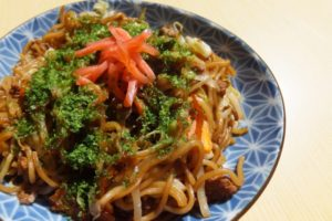 Japanese fried noodle sauce yakisoba
