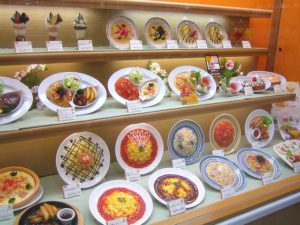 Fake Plastic Food Samples at the Entrance of a Restaurant in Japan