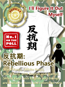 Japanese Kanji T-Shirt Rebellious Phase