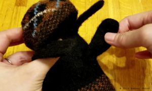 How to make Japanese Glove Puppet Step5a